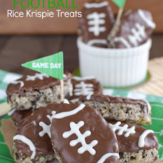 Mint Cookies and Cream Football Rice Krispie Treats