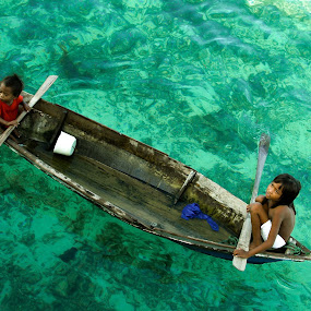 Bajau Laut Boats by Zahir Mohd - Babies & Children Children Candids