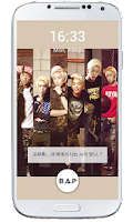 Screenshot of B.A.P Lockscreen