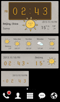 Screenshot of Style widget (weather/time)