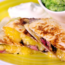 Steak Quesadilla with Salsa Verde