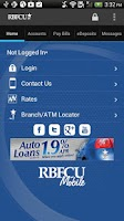 Screenshot of RBFCU Mobile