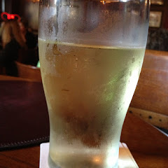 Hubby had his favorite beer and I has this refreshing chilled pear cider.