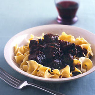 Beef Stew with Buttered Egg Noodles