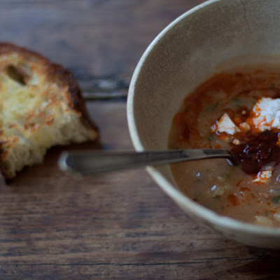 Dried Fava Soup with Mint and Guajillo Chiles