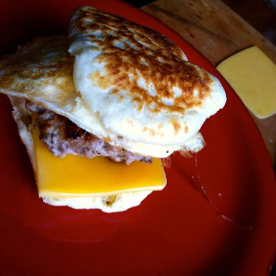 English Muffin with Sausage and Egg