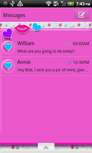 GO SMS THEME DottedFur2
