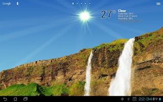 Screenshot of True Weather, Waterfalls