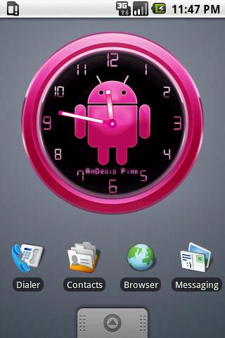 PINK Clock Widget for AnDROID