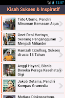Screenshot of Kisah Sukses & Inspiratif