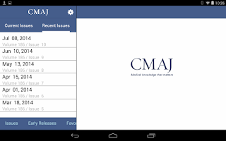 Screenshot of CMAJ