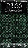 Screenshot of Grid Clock Live Wallpaper