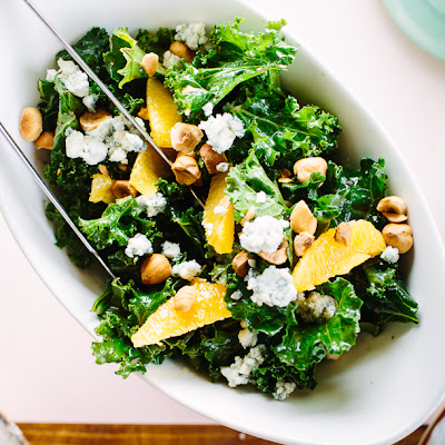 Kale, Orange and Hazelnut Salad