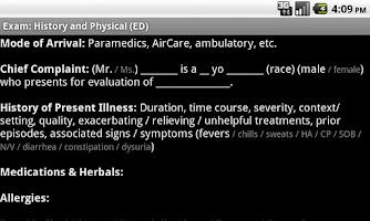 Screenshot of Standard Dictations