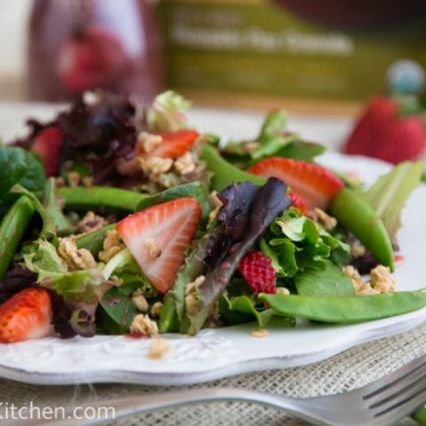 Strawberry, Snap Pea and Mixed Green Salad