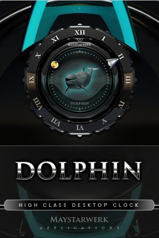 美麗的海豚時鐘