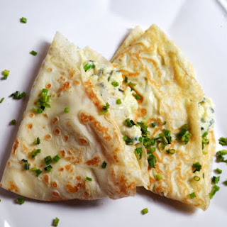 Crêpes with Herb and Goat Cheese Scrambled Eggs