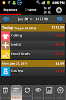 Screenshot of Budget Organizer Free