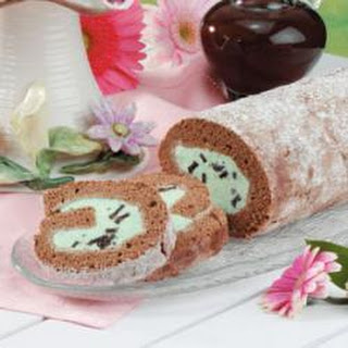 Mint-Chip Ice Cream Roll