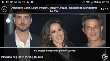 Screenshot of La Voz