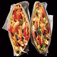 Peanut-Sauced Chicken Pitas