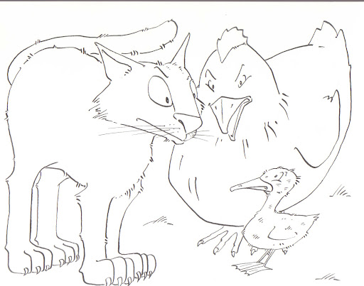 ugly duckling coloring page - photo #12