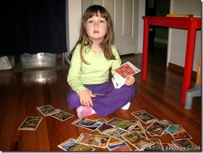 Playing with Dinosaur Cards