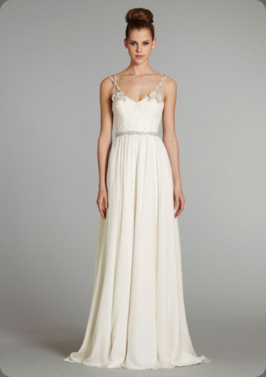 wedding dress hayley-paige-bridal-silk-georgette-draped-gown-crystal-floral-beaded-straps-crisscross-tulle-chapel-train-6254_x4