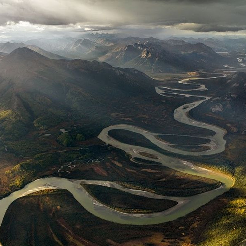 The Meandering Alatna River in Alaska