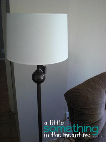 A Little Something In The Meantime Spray Paint Makeover Brass Floor Lamp Edition
