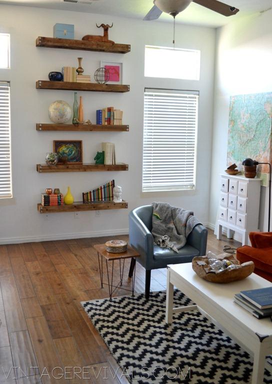 Diy Industrial Modern Floating Shelves Vintage Revivals