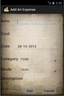 Expenses Lite- screenshot thumbnail