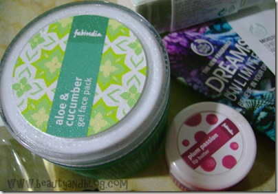 Fab India Lip Butter And Aloe Face Pack