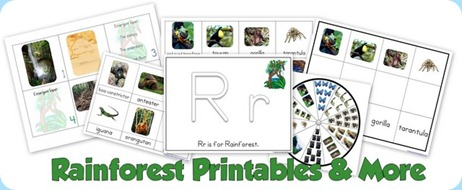 Rainforest printables and more 1111 alphabet tot school ibookread PDF