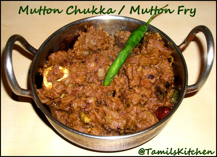 Mutton chukka / Mutton Fry