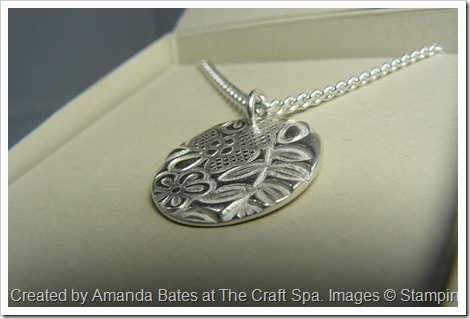 Something Lacy, Silver Clay Pendant, Amanda Bates, The Craft Spa 018