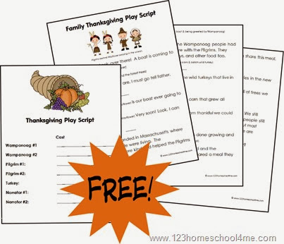 FREE Thanksgiving Play for Families