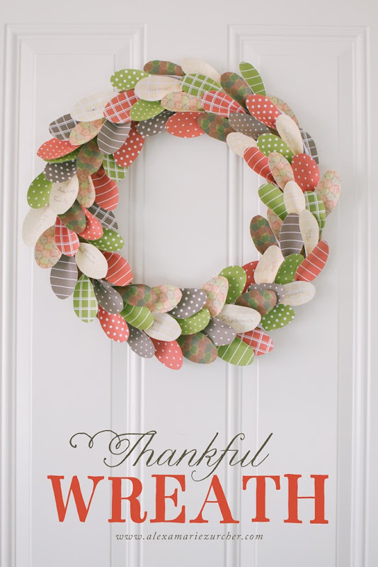 Thanksgiving Thankful Wreath, Thankful Tree