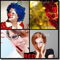 RED- 4 Pics 1 Word Answers 3 Letters