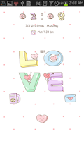 Screenshot of LOVE go locker theme