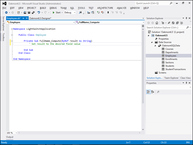 A Visual Studio 2012 LightSwitch App with Real-World Data