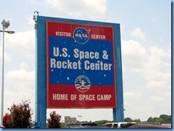 8509 U.S. Space and Rocket Center sign - Huntsville, Alabama