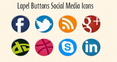 Lapel-Buttons-Social-Media-Icons
