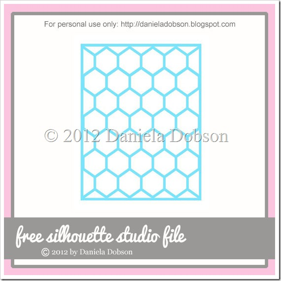 Honeycomb card front  by Daniela Dobson