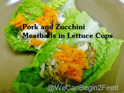 Pork Meatballs in Lettuce Cups
