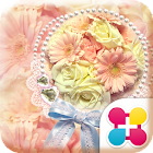 粉紅色的花主題 溫馨絲帶 icon