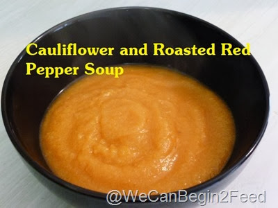 Cauliflower and Roasted Red Pepper Soup