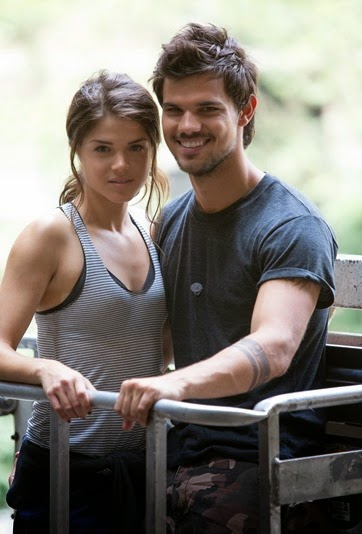marie avgeropoulos and taylor lautner in TRACERS