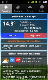 Weather Australia screenshot for Android