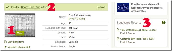 FRED R COWAN人口普查regly ancestry.com